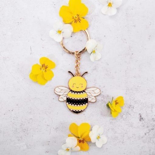 112180 Nyckelring Bee Happy
