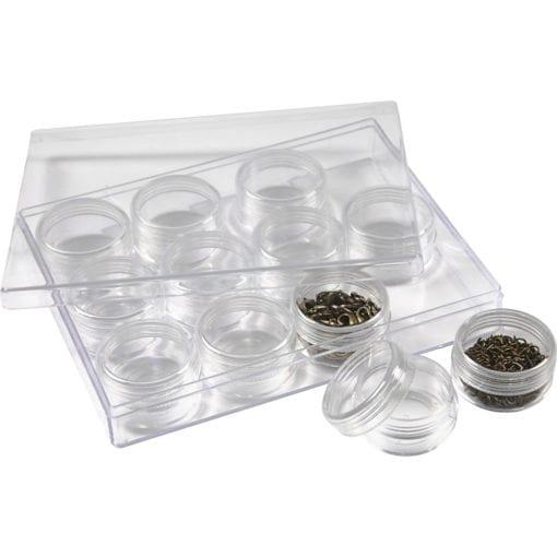 112202 Akrylburkar inkl. Förvaringsask 10 ml 12-pack