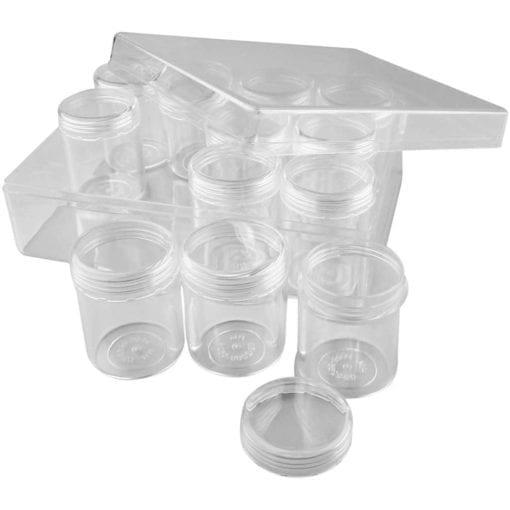 112204-1 Akrylburkar inkl. Förvaringsask 35 ml 12-pack
