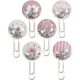 112211 Vivi Gade Shaker Clips Rosa Dekorativa Gem Set om 6