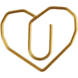 112226 Metallgem Hjärta Guld 6-pack