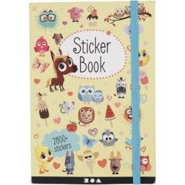 112232 Bok med Klistermärken 2800 Stycken Stickers