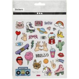 112234-1 Stickers Girl Power Ark 32 st