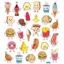 112235 Stickers Fast Food Ark 27 st