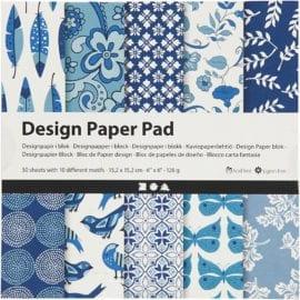 112242 Design Paper Pad Blå 50 Ark 120 gram