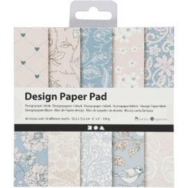 112243-1 Design Paper Pad Rosa 50 Ark 120 gram