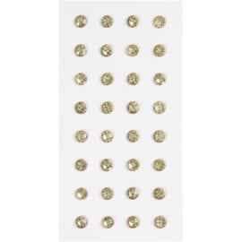 112255-1 Självhäftande Rhinestones Guld 1 Ark