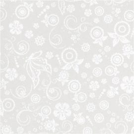 112265 Blankt Papper Råvit Mönster I Silvertryck 20 A4-ark 80 g