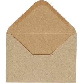 112272 Kuvert Natur 11.5x16 cm 110 g 10-pack