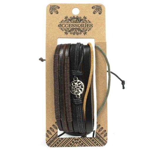112286-3 Läderarmband Mens Bracelets Set - AW Accessories