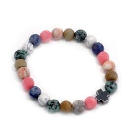 112288-1 Vänskapsarmband Harmony Rainbow Gemstones - AW Accessories