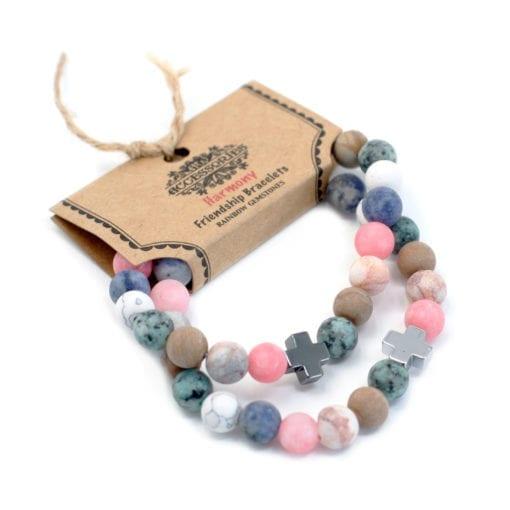 112288-2 Vänskapsarmband Harmony Rainbow Gemstones - AW Accessories