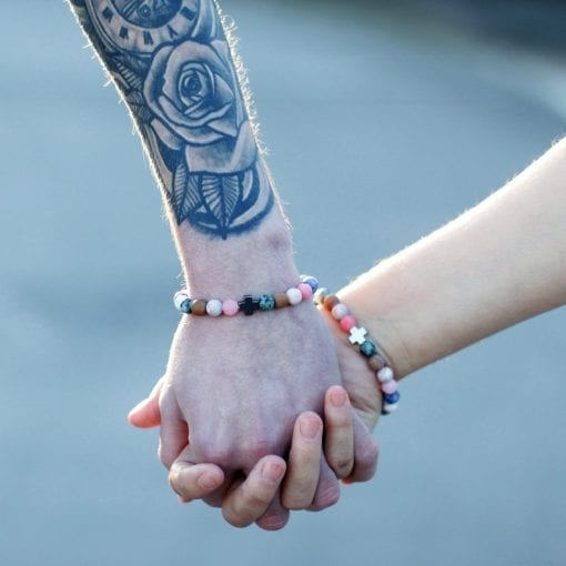 112288-4 Vänskapsarmband Harmony Rainbow Gemstones - AW Accessories