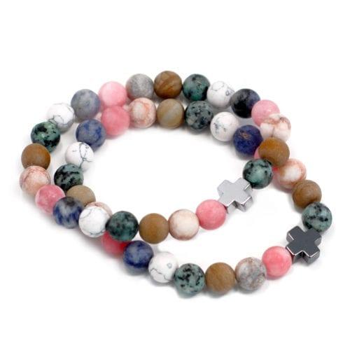112288 Vänskapsarmband Harmony Rainbow Gemstones - AW Accessories