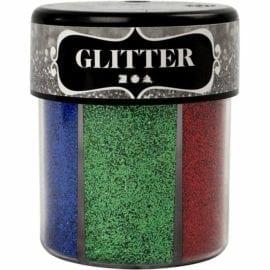 112292 Glitter 1 Mixade Färger 6x13 g
