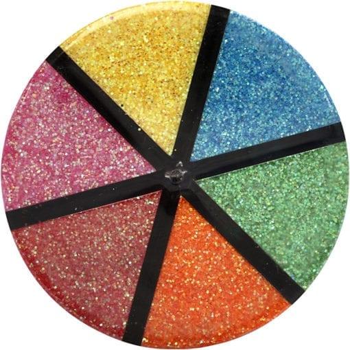 112293-1 Glitter 2 Mixade Färger 6x13 g