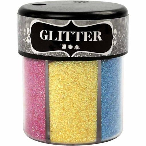 112293 Glitter 2 Mixade Färger 6x13 g