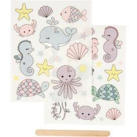 112296 Stickers Rub-on Havsdjur