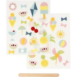 112297 Stickers Rub-on Sommar & Sol