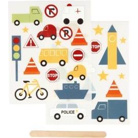 112298 Stickers Rub-on Trafik & Fordon
