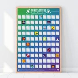 112319 Skrapaffisch - 100 Kids Activities Scratch Off Bucket List Poster