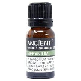 112149-7 Ekologiska Eteriska Oljor för Aromaterapi 10 ml - Ancient Wisdom Geranium