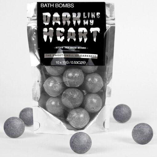 Gift Republic Badbomber Dark Like My Heart Med Väldoftande Mörker 10-Pack