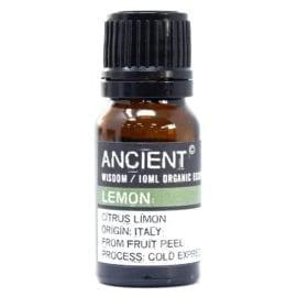 112149-11 Ekologiska Eteriska Oljor för Aromaterapi 10 ml - Ancient Wisdom Lemon