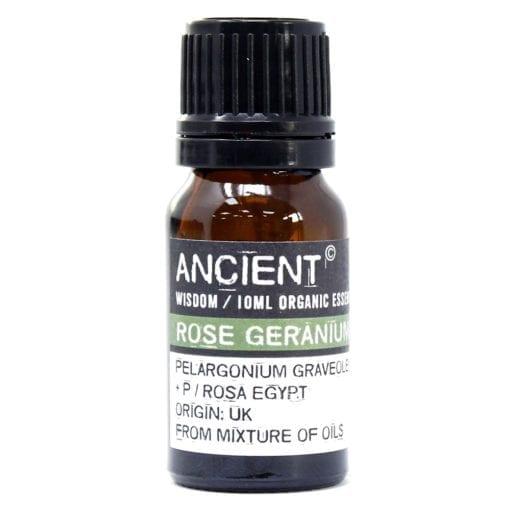 112149-17 Ekologiska Eteriska Oljor för Aromaterapi 10 ml - Ancient Wisdom Rose Geranium