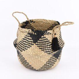 Sass & Belle Förvaringskorg Svart Tribal Tassel - Scandi Boho