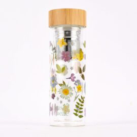 Sass & Belle Vattenflaska Pressade Blommor Med Infuser