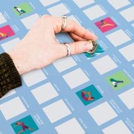 112321-1 Skrapaffisch - 100 Yoga Scratch Off Bucket List Poster