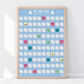 112321 Skrapaffisch - 100 Yoga Scratch Off Bucket List Poster