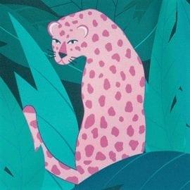 112372-2 Lunchväska Leopard