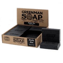 112384 Tvål Greenman Manly Man Kryddnejlika & Salvia 100 g