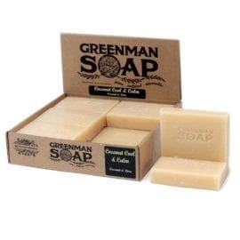 112386 Tvål Greenman Coconut Cool & Calm Kokos & Lime 100 g