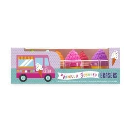 112393-2 OOLY Luktsudd Petite Sweets Ice Cream Shoppe Scented Erasers - Set om 6