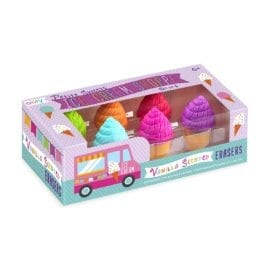 112393-3 OOLY Luktsudd Petite Sweets Ice Cream Shoppe Scented Erasers - Set om 6