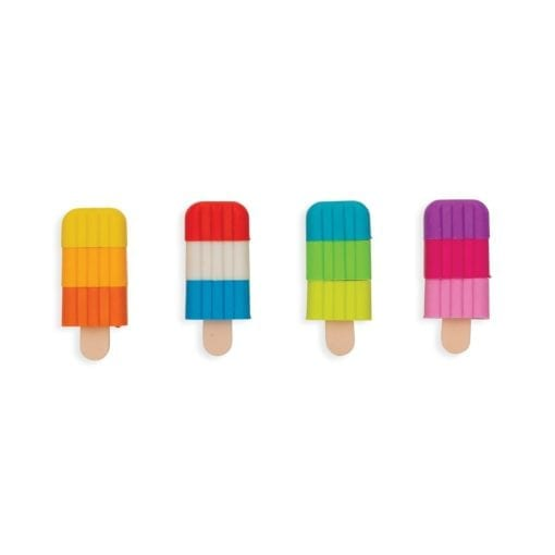 112394-1 OOLY Luktsudd Icy Pops Scented Puzzle Erasers - Set om 4