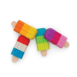112394-5 OOLY Luktsudd Icy Pops Scented Puzzle Erasers - Set om 4