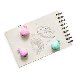 112395-5 OOLY Luktsudd Nom Nom Narwhals Scented Erasers - set of 3