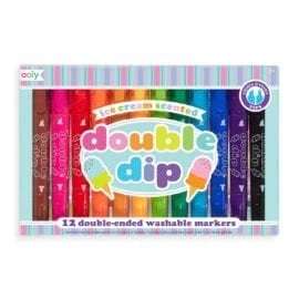 112402 OOLY Luktpennor Dubbelspets Double Dip Ice Cream Scented Markers Set om 12