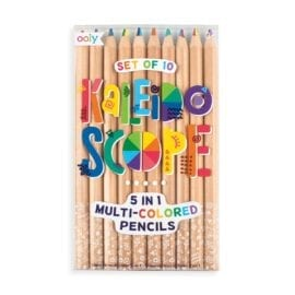112404-4 OOLY Multipennor Kaleidoscope 5in1 Multi-colored Chunky Pencils - Set om 10