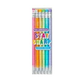 112405-7 OOLY Multistiftspenna Stay Sharp Rainbow Pencils - Set om 6
