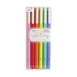 112406-5 OOLY Gelpennor Modern Writers Gel Pens - Set om 6