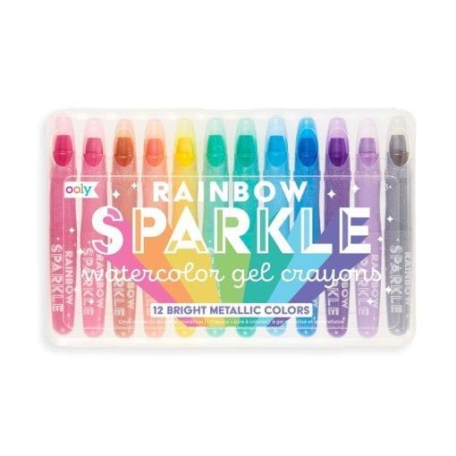 112408-1 OOLY Gelkritor Rainbow Sparkle Watercolor Gel Crayons - Set om 12