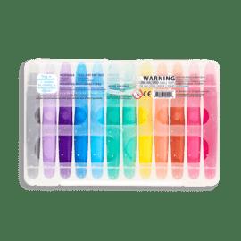 112408-5 OOLY Gelkritor Rainbow Sparkle Watercolor Gel Crayons - Set om 12