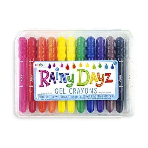 112409-1 OOLY Gelkritor Rainy Dayz Gel Crayons - Set om 12