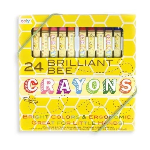 112411-2 OOLY Vaxkritor Brilliant Bee Crayons - Set om 24