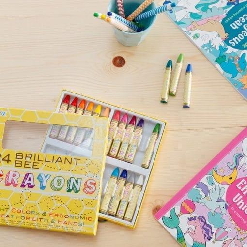 112411-5 OOLY Vaxkritor Brilliant Bee Crayons - Set om 24